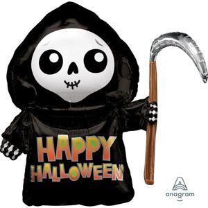 Amscan Fóliový balón - Smrtka Happy Halloween