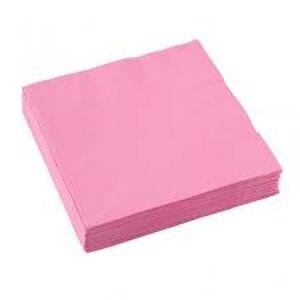 Amscan Servítky - Ružová 33x33 cm