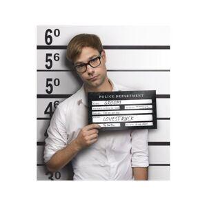 PartyDeco Rekvizita na fotenie - Karta zatknutého