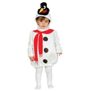 Guirca Detský kostým pre najmenších - Snehuliak Veľkosť.: 12 - 24 mesiacov