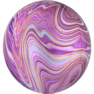 Amscan Guľatý fóliový balón - mramorový fialový