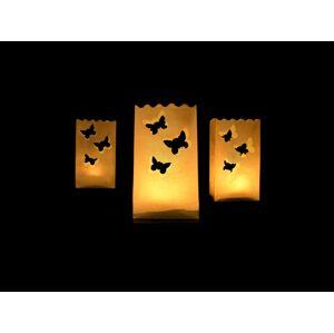 PartyDeco Papierové lampióny - motýle 10 ks