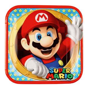 Amscan Štvorcové taniere - Super Mario 8 ks