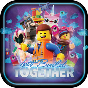 Amscan Štvorcové taniere - Lego Movie 2