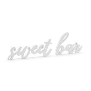 PartyDeco Drevená dekorácia - Sweet bar