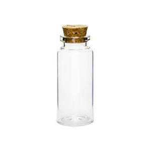 PartyDeco Sklenené fľaštičky - s korkovým uzáverom