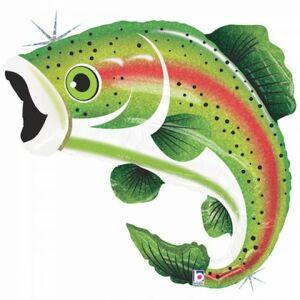 BP Fóliový balón - zelená ryba holografická