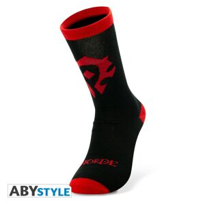 ABY style Ponožky World of Warcraft - Horde Black a Red