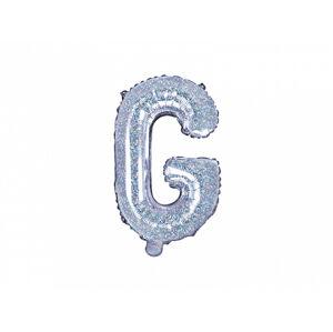 PartyDeco Fóliový balón Mini - Písmeno G 35 cm holografický