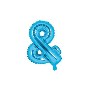 PartyDeco Fóliový balón Mini - Symbol & 35 cm modrý