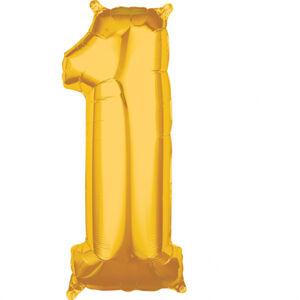 Amscan Fóliový balón narodeninové číslo 1 zlatý 66cm