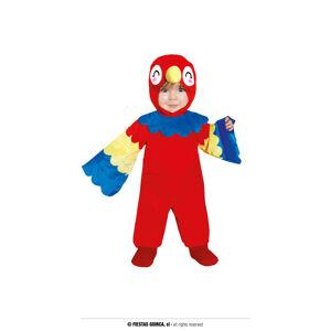 Guirca Detský kostým pre najmenších - Papagáj Veľkosť najmenší: 6 - 12 mesiacov