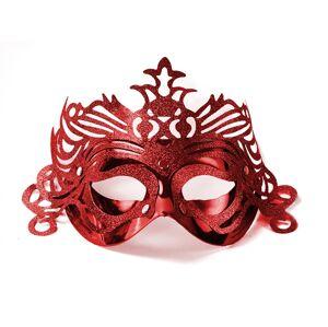 PartyDeco Party maska s ornamentami červená