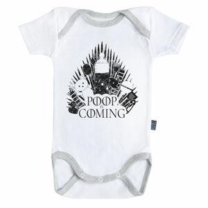 Baby-Geek Detské body - Poop is coming Veľkosť.: 3 - 6 mesiacov