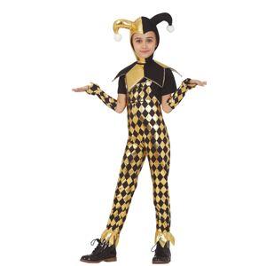 Guirca Detský kostým - čierno-zlatá Harley Quinn Veľkosť - deti: XL