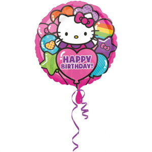 Amscan Foliový balón Happy Birthday - Hello Kitty 43 cm