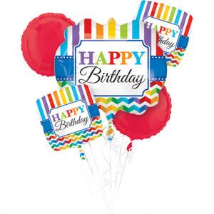 Amscan Kytica balónov Farebné narodeniny