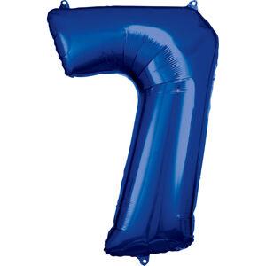 Amscan Balónik fóliový narodeninové číslo 7 modrý 86 cm