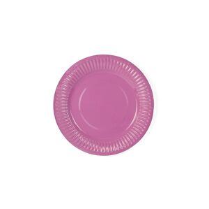 PartyDeco Ružové taniere 6 ks