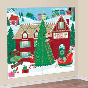 Amscan Nálepka na stenu - Vianoce 82 x 165 cm