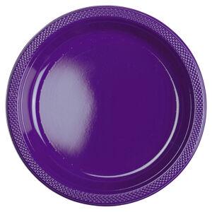 Amscan Plastové taniere - fialové 10 ks