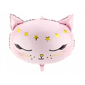 PartyDeco Fóliový balón - mačka 48 x 36 cm