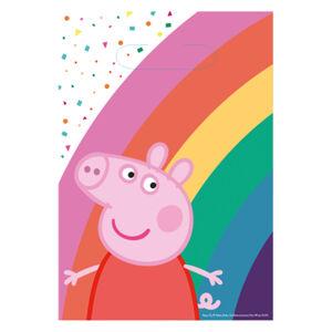 Amscan Darčekové tašky - Peppa Pig 8 ks 23,4 x 16,2 cm