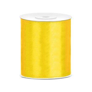 PartyDeco Saténová stuha žltá 100mm/25m