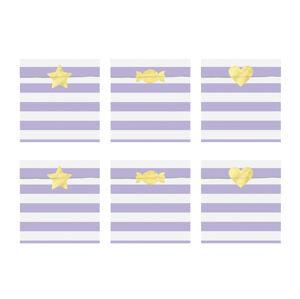 PartyDeco Papierové vrecúška - Svetlofialové 13 x 14 cm 6 ks
