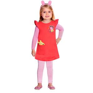 Amscan Detský kostým červený - prasiatko Peppa Veľkosť - deti: S