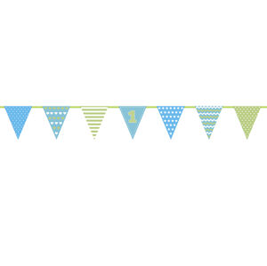 PartyDeco Girlanda prvé narodeniny - modrá