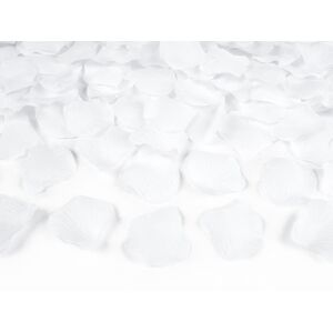 PartyDeco Lupene ruží biele 500 ks