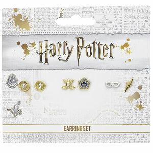 Distrineo Sada náušníc Harry Potter - Čokoládová žabka, časovrat, okuliare a jazva