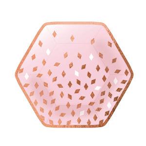 Amscan Taniere ružovo-zlaté narodeniny 8 ks 23 cm