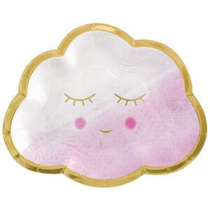 Amscan Taniere - Ružový obláčik 8 ks 16,5 cm