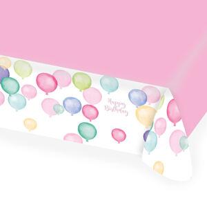 Amscan Obrus Happy Birthday - Pastelové balóny 115 x 175 cm