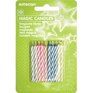 Amscan Sviečky - Farebné špirála 10 ks