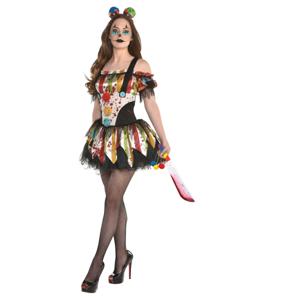 Amscan Dámsky kostým - Strašidelný klaun Veľkosť - dospelý: M