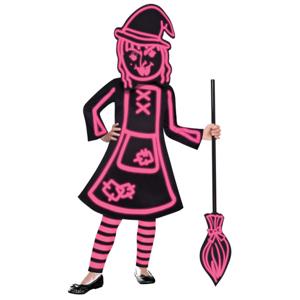 Amscan Kostým paličková čarodejnica Veľkosť - deti: 6 - 8 rokov