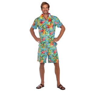Amscan Pánsky kostým - Havaj modrý Veľkosť - dospelý: PLUS