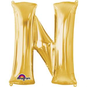 Amscan Fóliový balónik písmeno N 86 cm zlatý