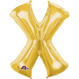 Amscan Fóliový balónik písmeno X 86 cm zlatý